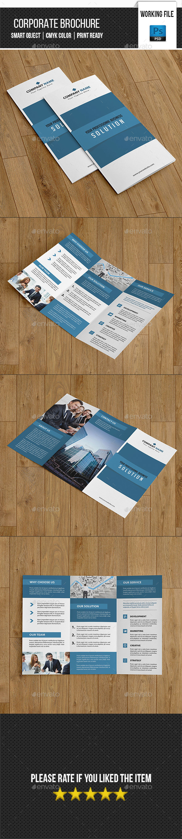 Corporate Trifold Brochure-V262 - Corporate Brochures