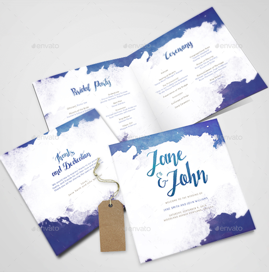Watercolor wedding invitations by bnimit graphicriver watercolor wedding invitations junglespirit Image collections
