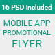 Material Design Mobile App Promotional Flyer - GraphicRiver Item for Sale