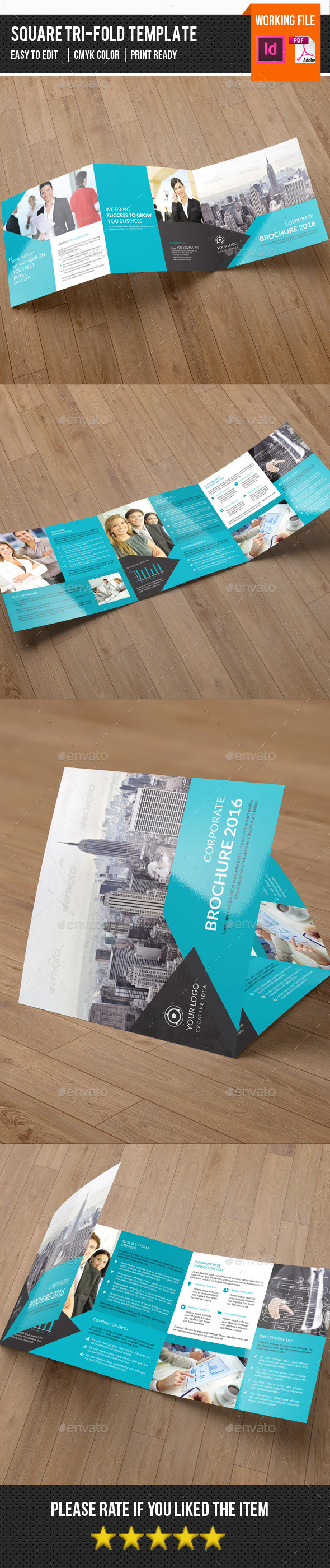 Corporate Square Trifold-V76 - Corporate Brochures