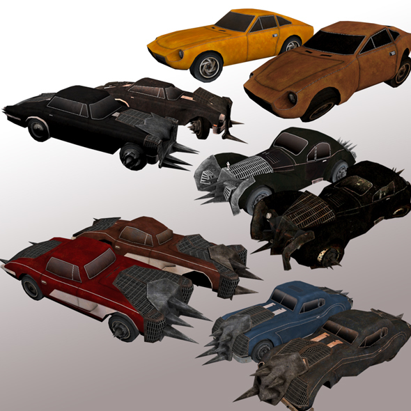 Sport Cars with Armor Package  - 3DOcean Item for Sale