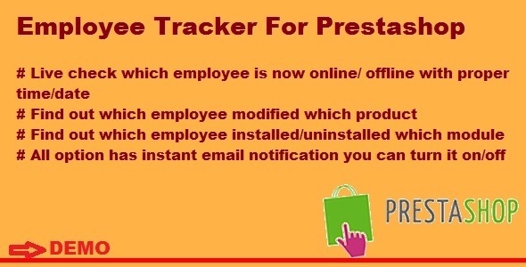 Employee Tracker For Prestashop - CodeCanyon Item for Sale