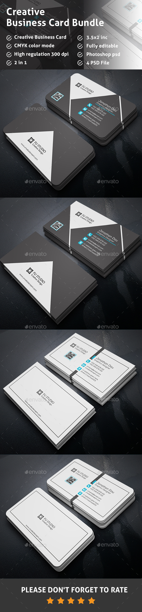 Business Card Bundle - Creative Business Cards