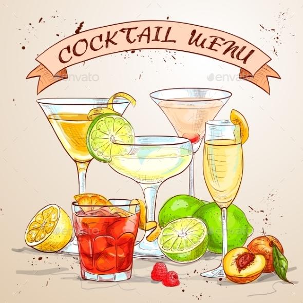 The Unforgettables Cocktail Menu - Backgrounds Decorative