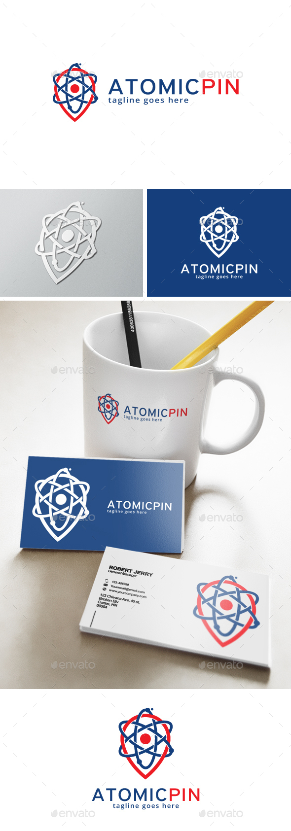 Atomic Point Logo - Objects Logo Templates