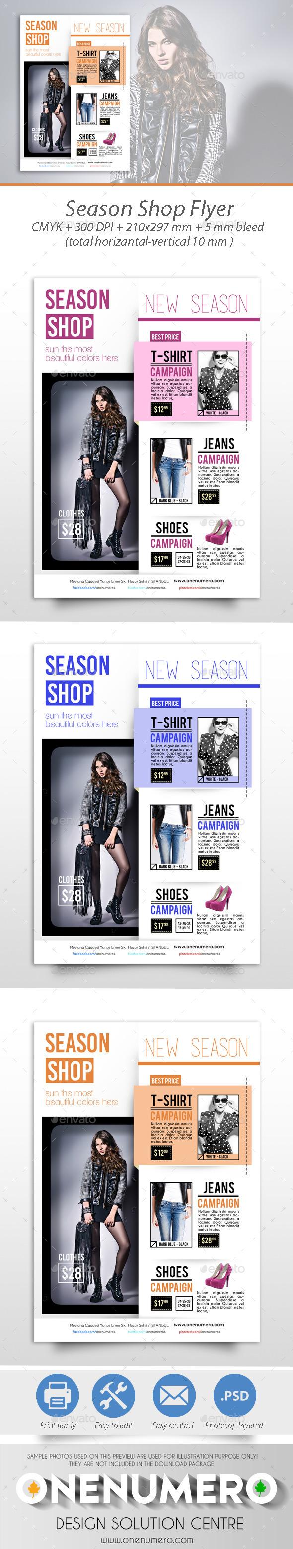 Season Shop Flyer Template - Commerce Flyers