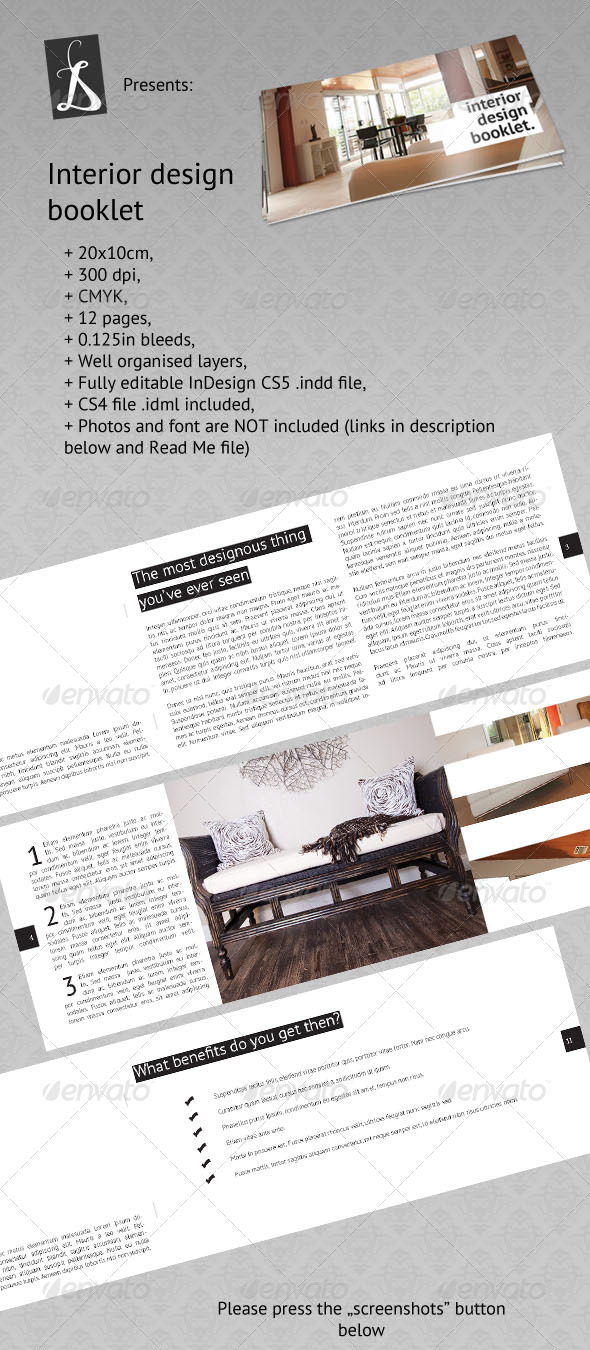 Interior Design Booklet - Corporate Brochures