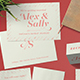 Hipster Wedding Stationery Set - GraphicRiver Item for Sale