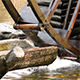 Water Mill - Water Hitting the Water Mill Wheel 3 - VideoHive Item for Sale