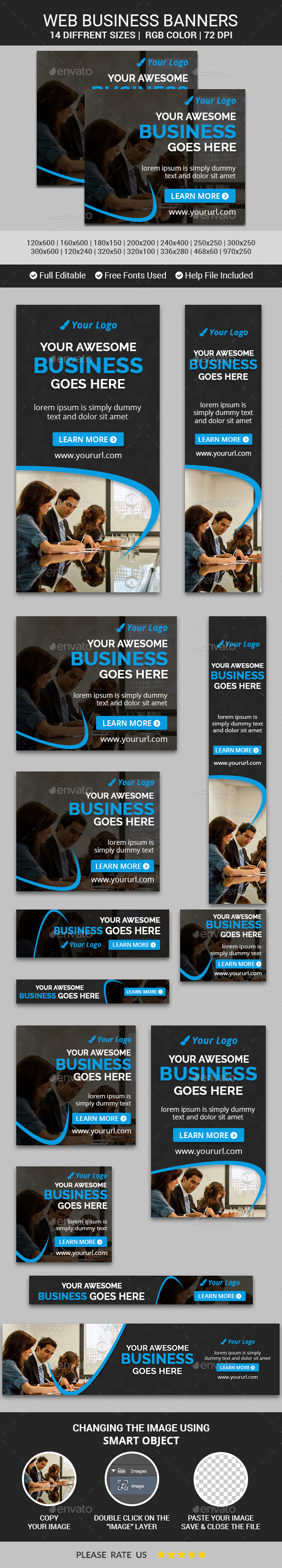 Business Banners v13 - Banners & Ads Web Elements