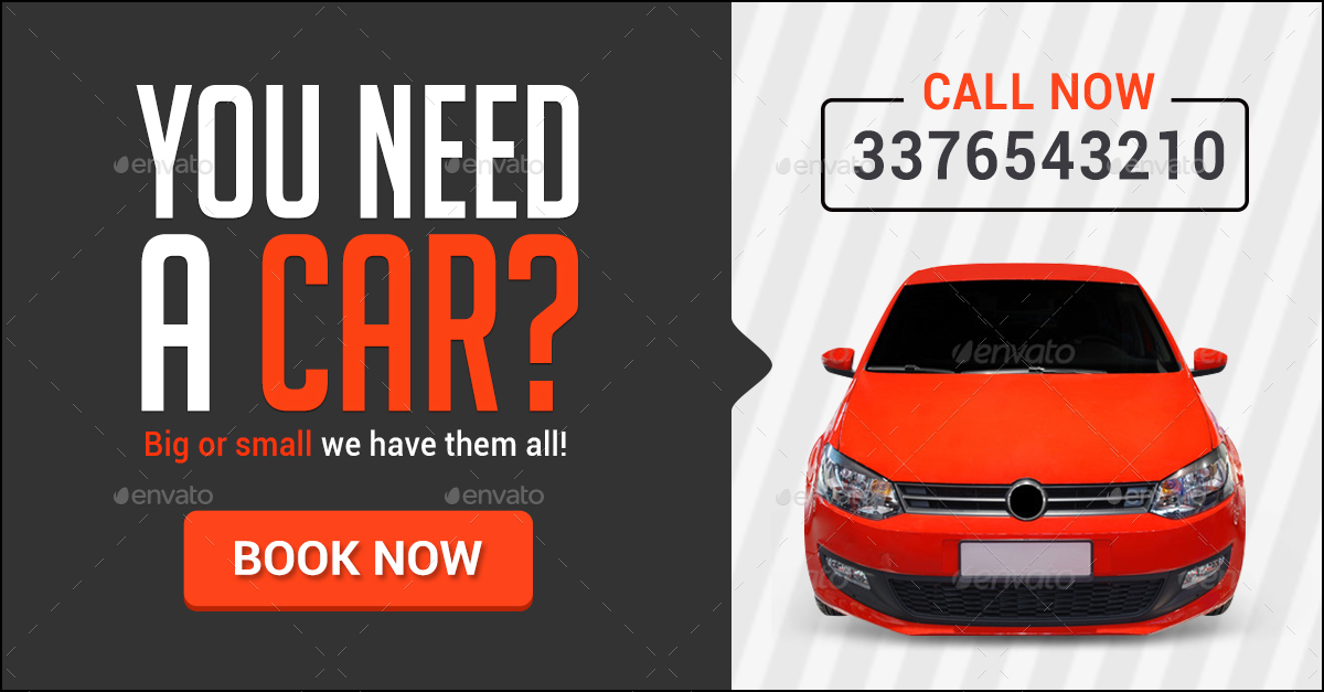 Car Rental Banners by Hyov | GraphicRiver
