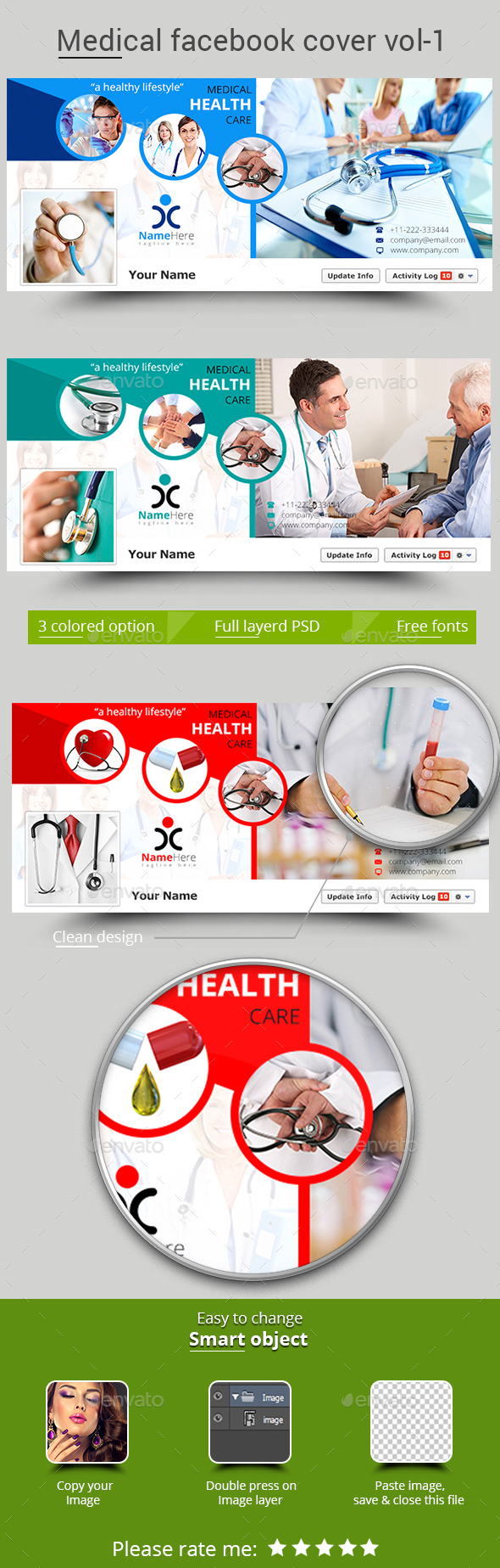 Medical Facebook Cover Vol-1 - Facebook Timeline Covers Social Media