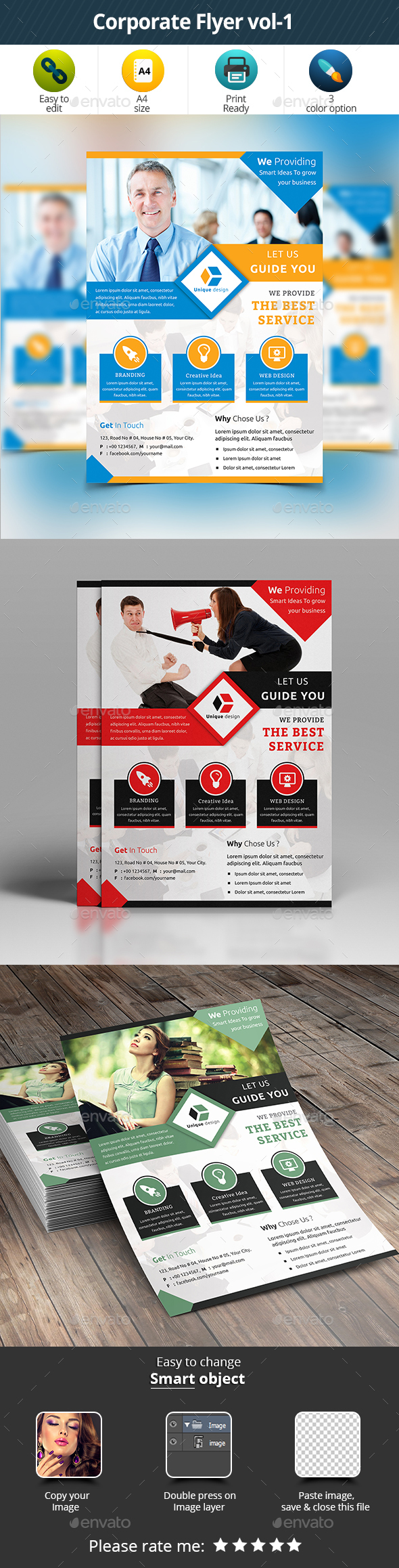 Corporate Flyer Vol- 1 - Corporate Business Cards