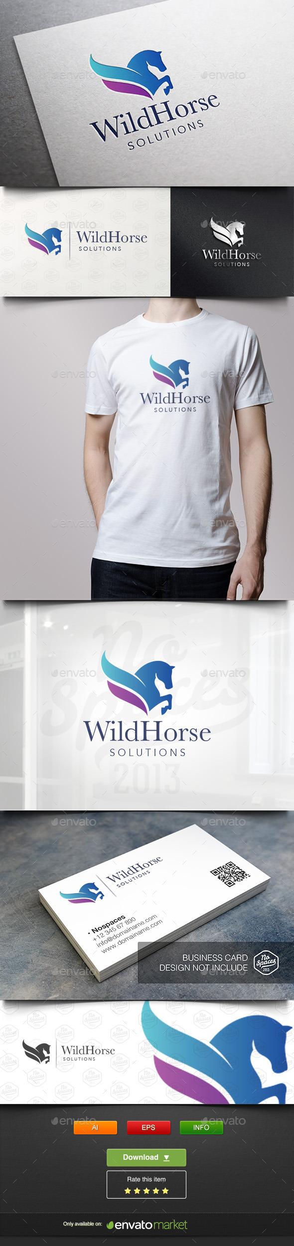 Wild Horse Logo - Animals Logo Templates