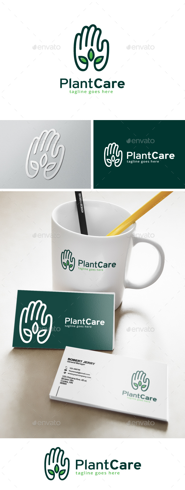 Green Care Logo - Nature Logo Templates