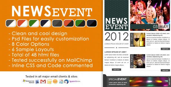 Free Download News Event Newsletter - Html and Psd files Nulled Latest Version