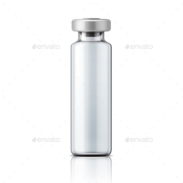 Glass Medical Ampule with Aluminium Cap - Man-made Objects Objects