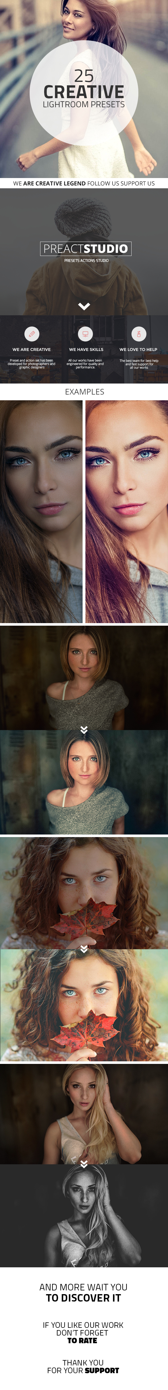 25 Creative Lightroom Presets - Portrait Lightroom Presets