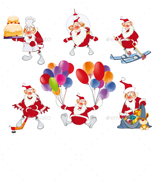 Cartoon Illustration of Santa Claus for you Design - Christmas Seasons/Holidays