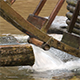 Water Mill - Water Hitting the Water Mill Wheel 4 - VideoHive Item for Sale