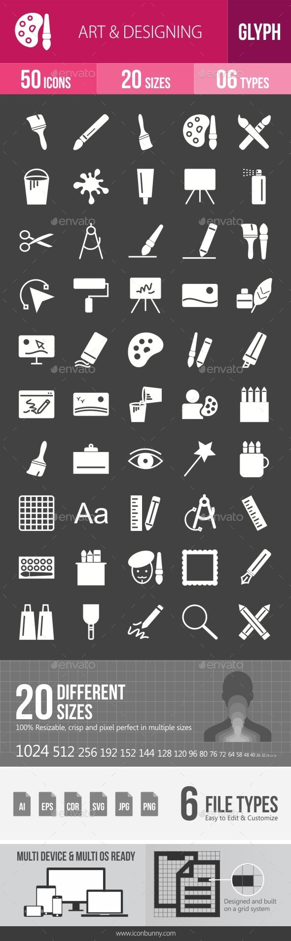 Art & Designing Glyph Inverted Icons - Icons