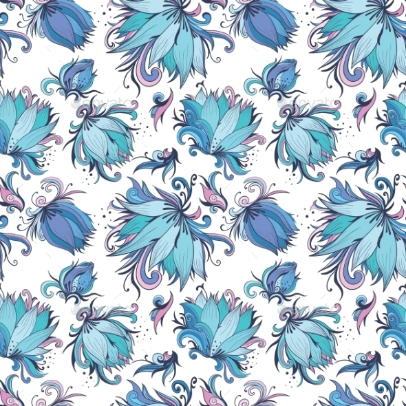 Blue Lotus Pattern  - Flowers & Plants Nature