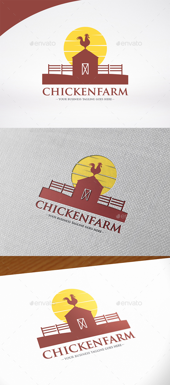Chicken Farm Logo Template - Animals Logo Templates