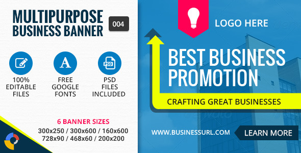 GWD | Business Promotion Banner - 004 - CodeCanyon Item for Sale