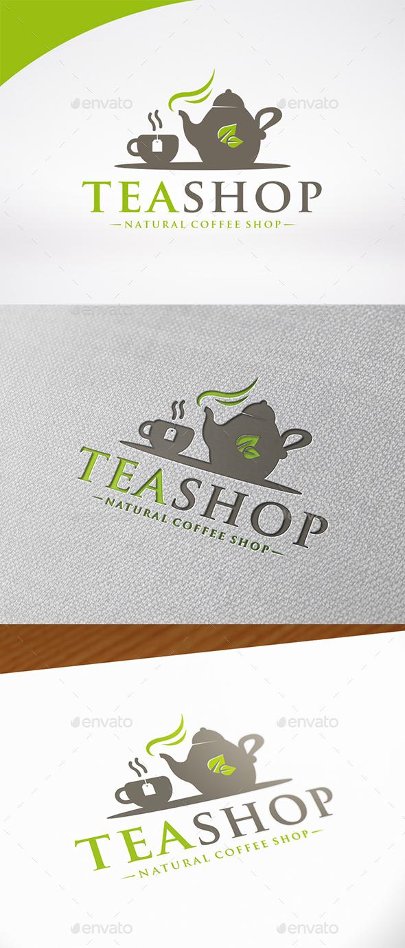 Tea Shop Logo Template - Food Logo Templates
