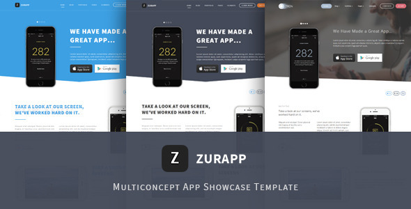 ZurApp – Multiconcept App Showcase Template