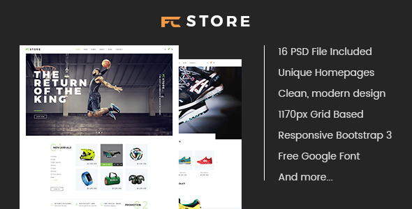 FCStore – Multipurpose eCommerce PSD Template