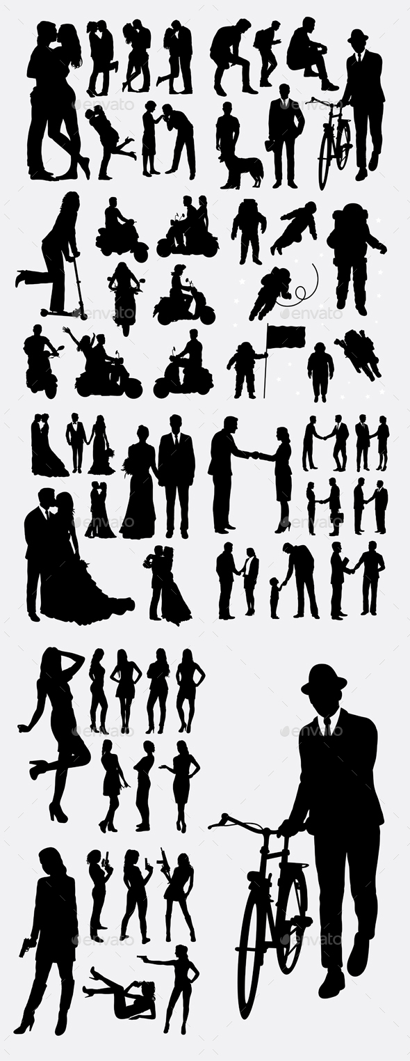People Event Silhouettes - People Characters