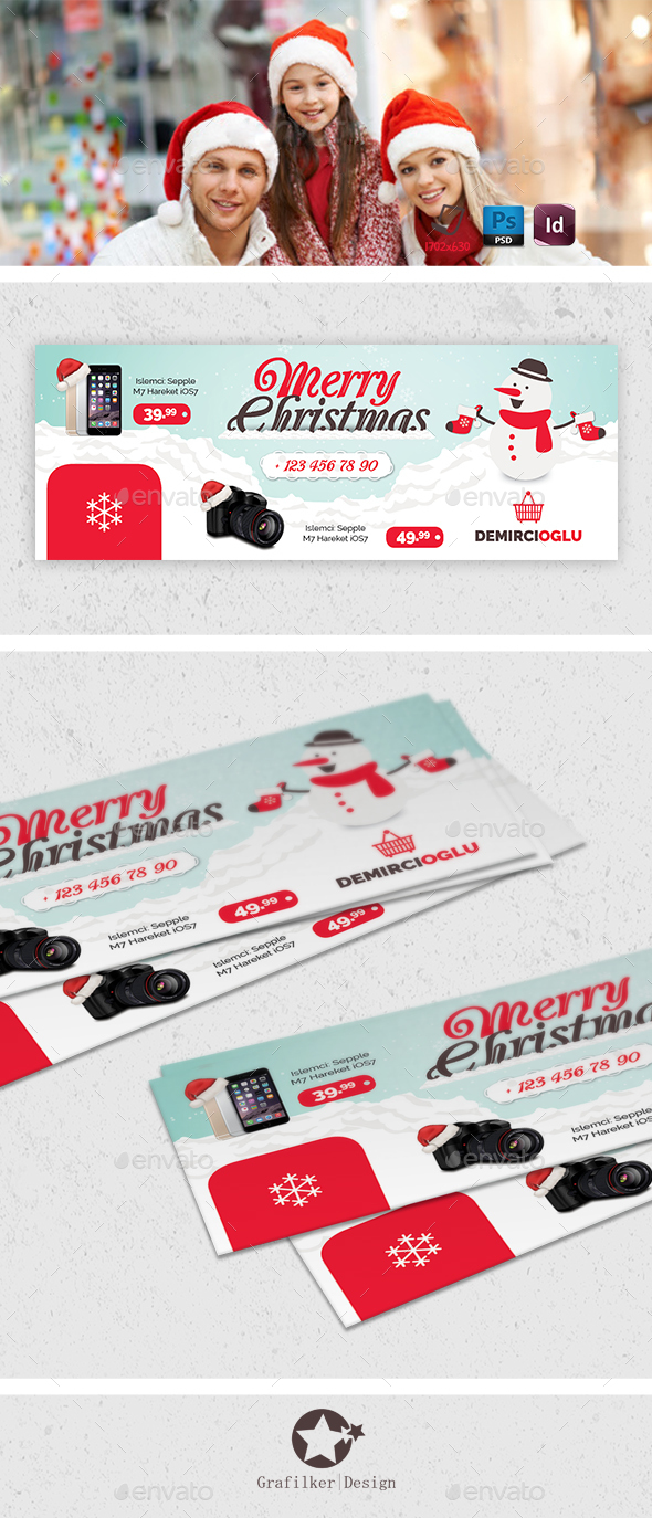 Christmas Product Cover Templates - Facebook Timeline Covers Social Media