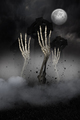 Digitally generated Skeleton hands bursting from the grave - PhotoDune Item for Sale