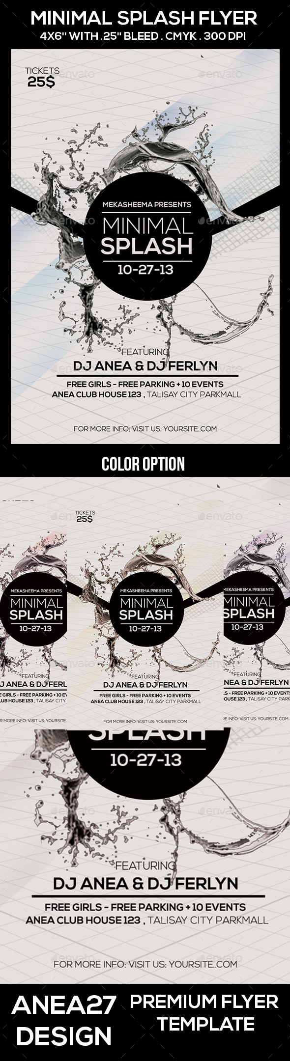 Minimal Splash Flyer - Clubs & Parties Events