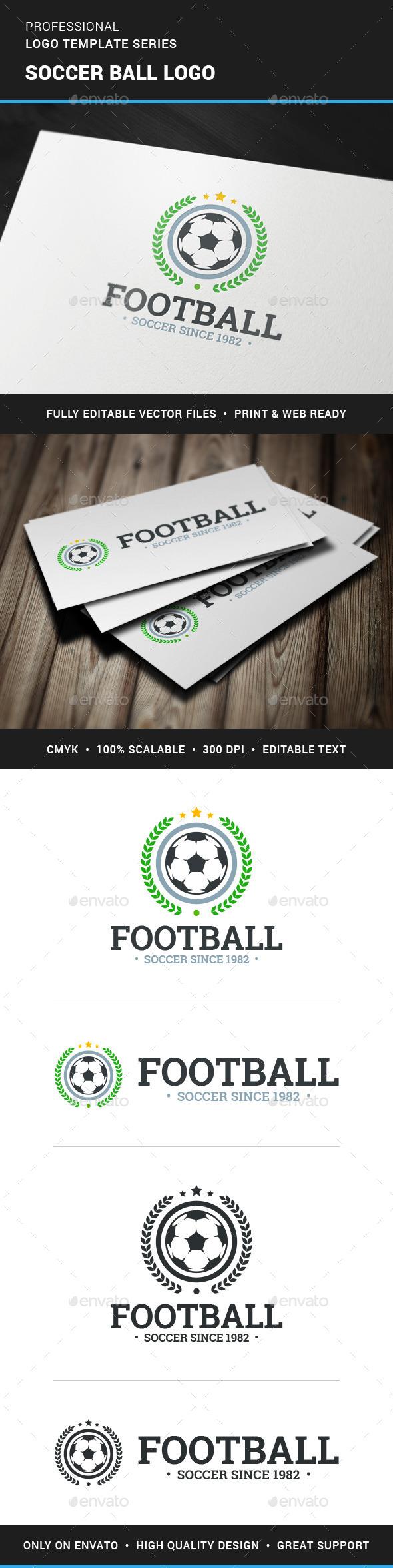 Soccer Ball Logo Template - Crests Logo Templates