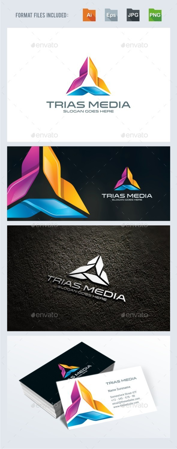 Trinity / Triangle Logo Template - 3d Abstract