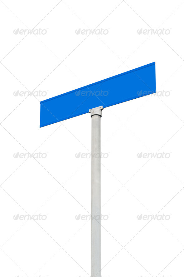 Blank street sign against sky - Stock Photo - Images