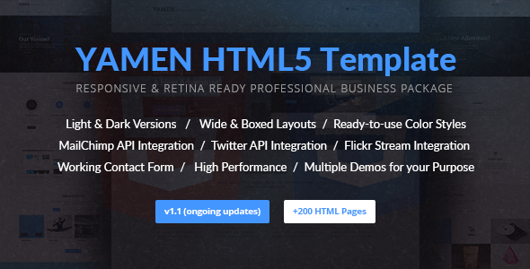 YAMEN – Responsive Business HTML Template
