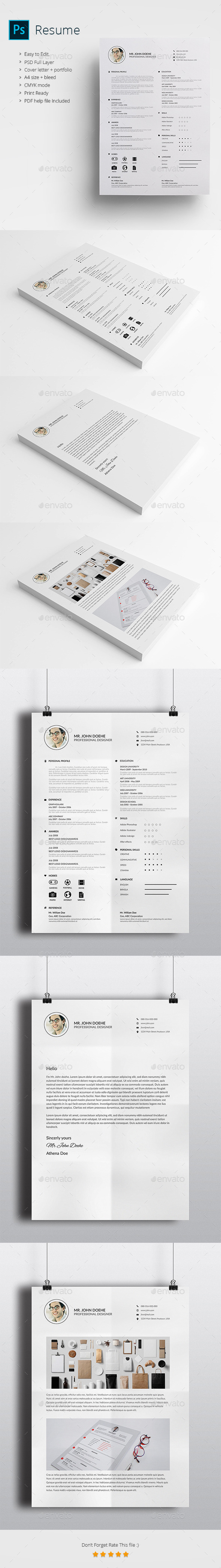 Resume Black and white - Resumes Stationery