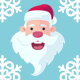 Flat Santa Claus Heads - GraphicRiver Item for Sale