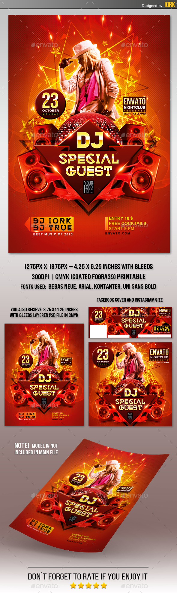 Dj Guest Party Flyer - Clubs & Parties Events