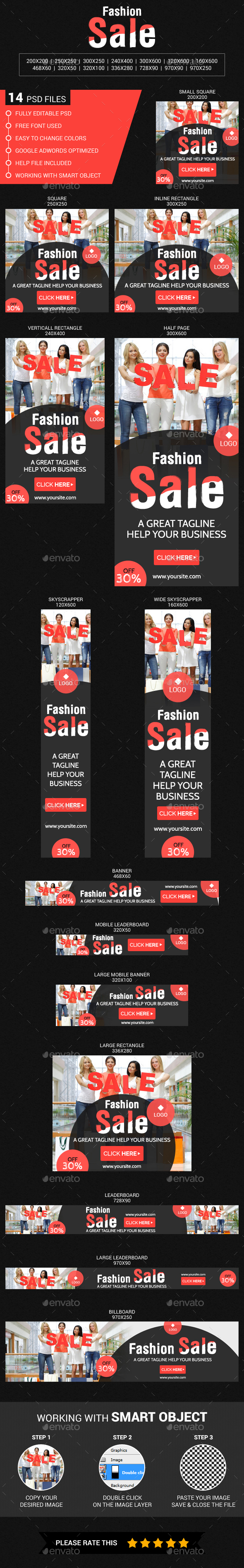 Fashion Sale - Banners & Ads Web Elements
