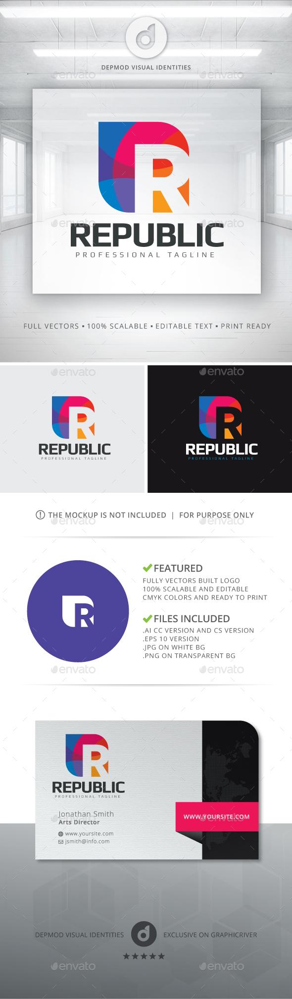 Republic Logo - Letters Logo Templates
