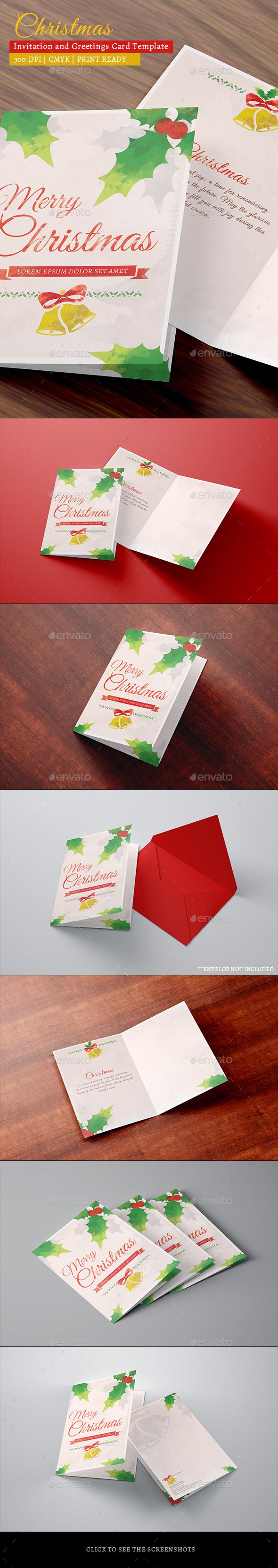Christmas Celebration Greetings/Invitation Card - Invitations Cards & Invites