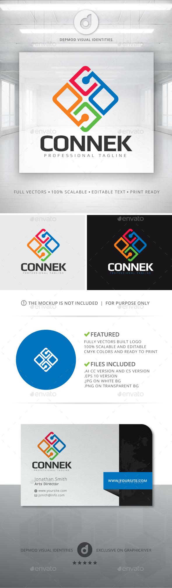 Connek Logo - Abstract Logo Templates