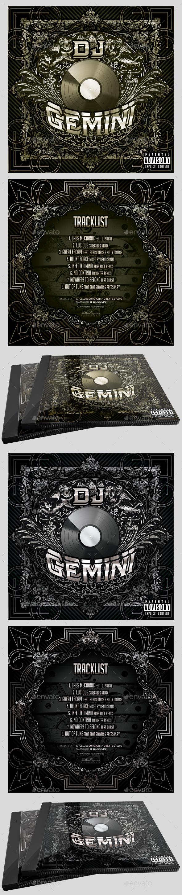 DJ CD Cover Artwork Template - CD & DVD Artwork Print Templates