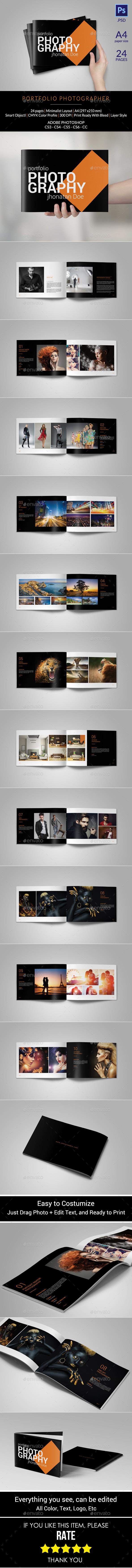 A4 Portfolio Photographer - Portfolio Brochures