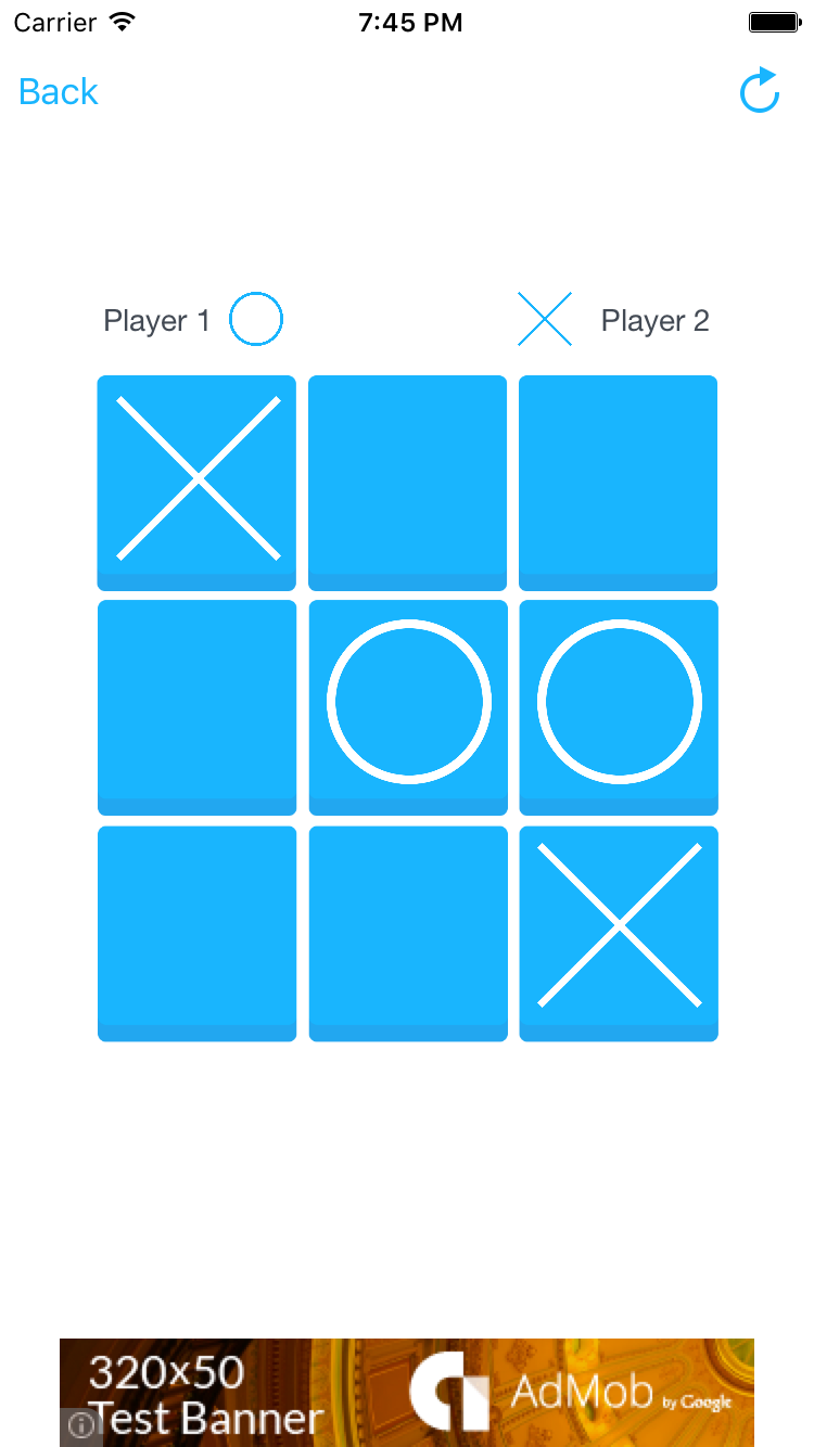 Tic tac toe ios app by rssyow codecanyon for Tic tac toe menu template