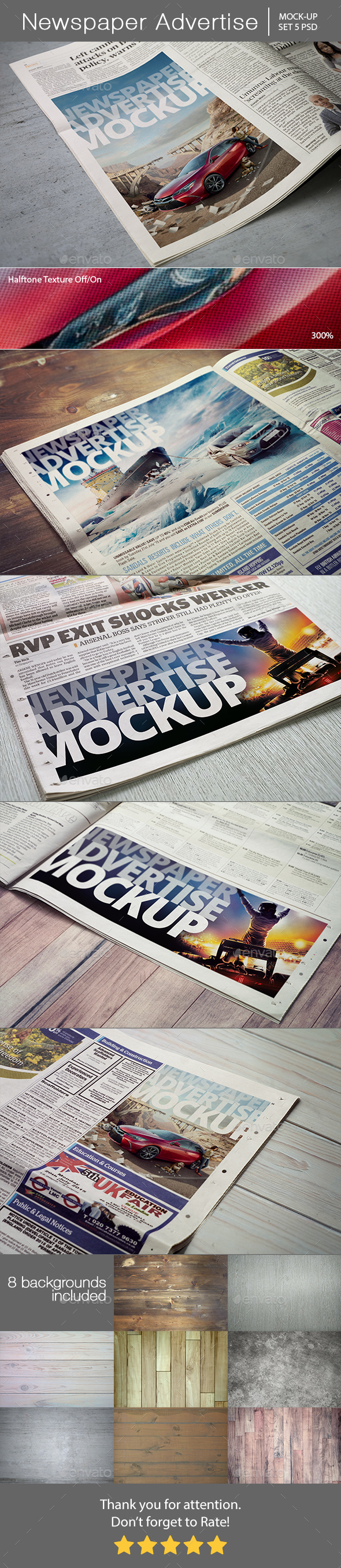 Newspaper Advertise Mockup - Miscellaneous Print